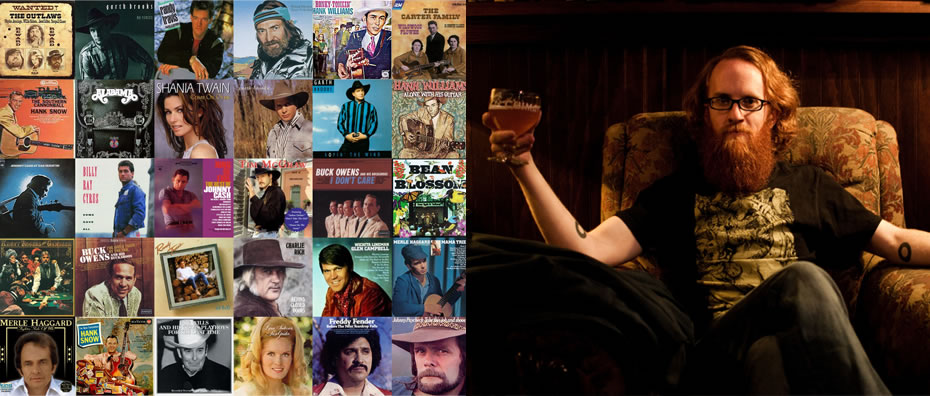 Country album grid and Rob Weychert portrait